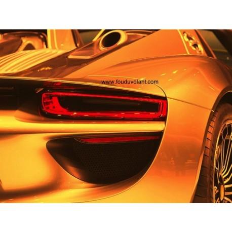"""Tirage photo """"Porche 918 Spyder"""" sous verre acrylique mat, support aluminium, 60x45 cm"""