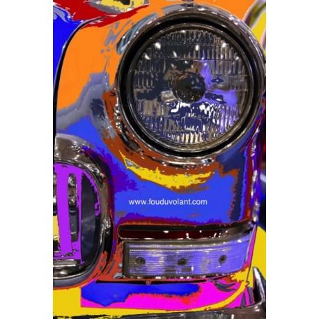"""Tirage photo sur toile """"Phare de Volga"""" chasis bois, support aluminium, 70x105 cm"""
