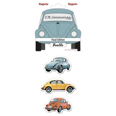 "Set de 3 Magnets Coccinelle Volkswagen thème ""Dynamic Time"""