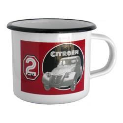Mug en métal émaillé 2 CV