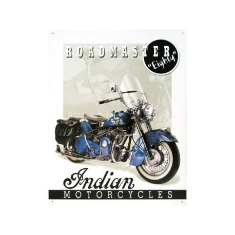 affiches anciennes ou pubs indian Plaque-en-tole-peinte-illustree-moto-indian-roadmaster-eighty