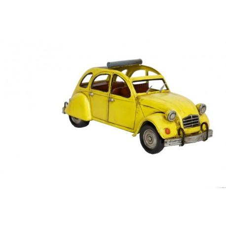 Voiture décorative Citroën 2 CV jaune