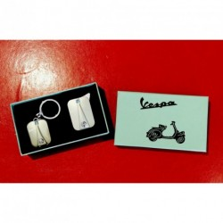Coffret briquet et porte-clef assorti Vespa - 3 coloris au choix
