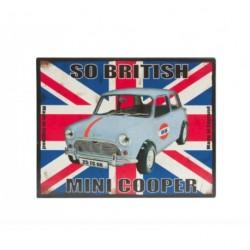 Plaque décorative auto Austin Mini, format 22x28 cm