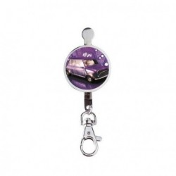 Porte-Clef imprimé AUSTIN MINI Rétro violet