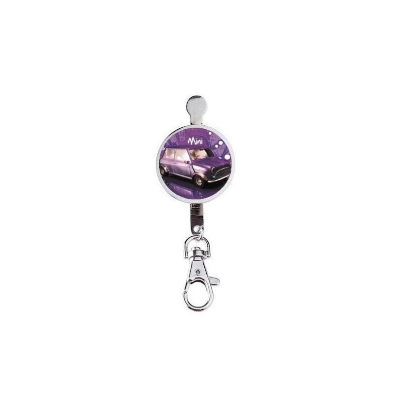 Porte clef imprim austin mini r tro violet boutique fou - Porte clef pour ne pas perdre ses clefs ...