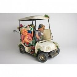 """Voiture de golf décorative en série limitée """"Les Amis Golfeurs"""" grand format de Guillermo Forchino"""