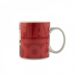 Mug Fiat 500 en céramique rouge illustrée