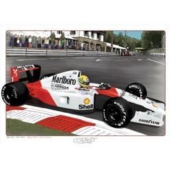 """Peinture numérique sur dessin """"Magic Senna"""" format 60 x 42 cm"""