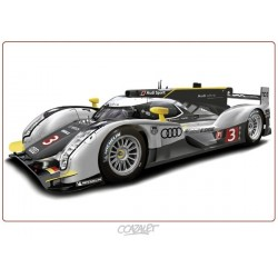 """Peinture numérique sur dessin """"Audi au Mans"""" format 60 x 42 cm"""
