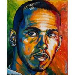 """Tirage d'art sur papier """"Lewis un jour de 2014"""" format 60 x 51 cm"""