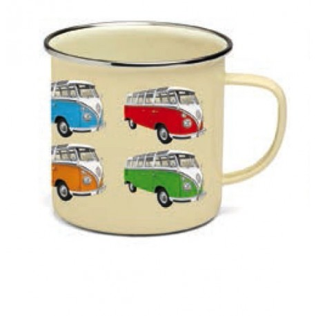 "Tasse Combi VW ""Multi-Bus"" en émail multicolore"