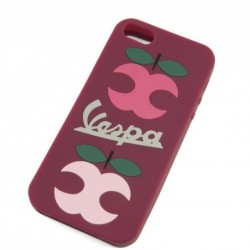 "Coque Iphone 5 VESPA fuchsia ""Apple"""