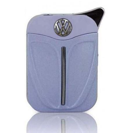 Briquet en métal au logo Coccinelle VW bleu lavande