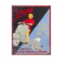 Plaque décorative VESPA Roma 1950, format 28 x 22 cm