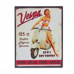 Plaque décorative VESPA N°1, format 28 x 22 cm