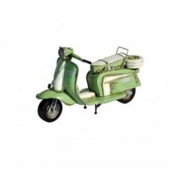 Mini scooter Lambretta décoratif vert pistache en fer peint