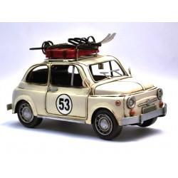 Fiat 500 N°53, coloris blanc cassé en fer peint