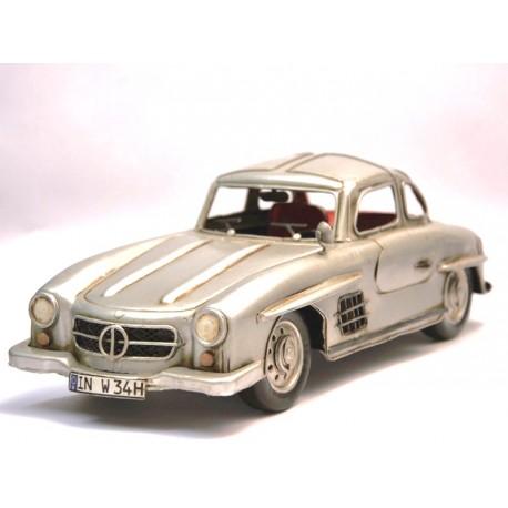 Mercedes SL gris métallisée en fer peint