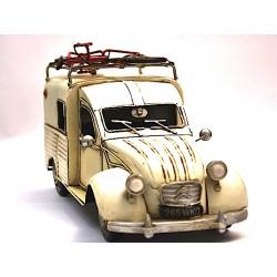 Fourgonnette Citroën blanc cassé en fer peint
