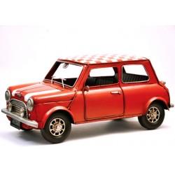 Austin Mini rouge en fer peint