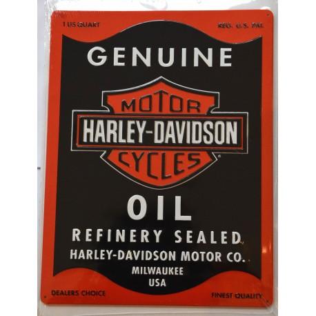 Plaque murale Harley Davidson à reliefs en fer peintorange et noir