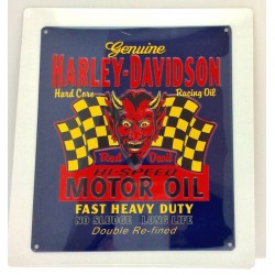 Plaque murale Harley Davidson Red Hot  Sign en tôle embossée  bleu dur