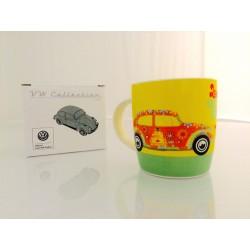 Mug sérigraphié Coccinelle VW Love That Bug Jaune