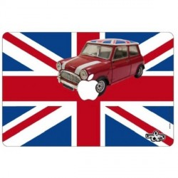"Sticker ""Austin Mini Uk""  pour ordinateur Mac book 32x22 cm"
