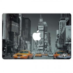 "Sticker ""Taxis in New York""  pour ordinateur Mac book 32x22 cm"