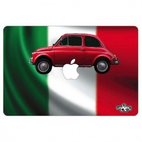 "Sticker ""Fiat 500""  pour ordinateur Mac book 32x22 cm"
