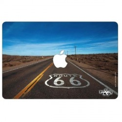 "Sticker ""Route 66""  pour ordinateur Mac book 32x22 cm"