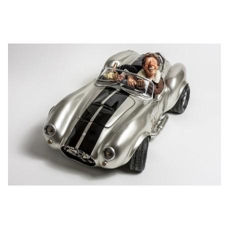Voiture décorative Ford Shelby COBRA 427S/C  SILVER en série numérotée format medium par Guillermo Forchino