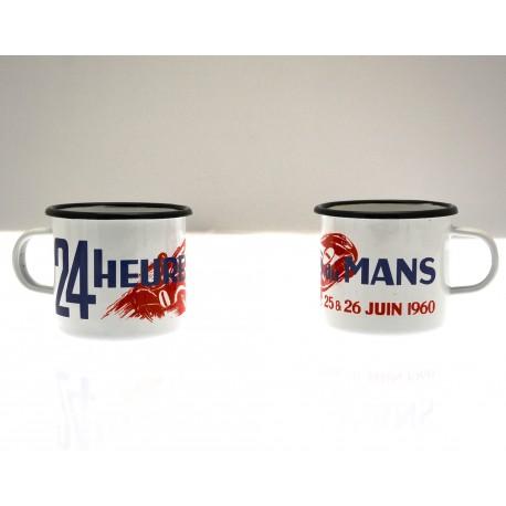 "Mug ""24 H du Mans en Ferrari"" en émail"