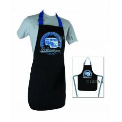 Tablier de cuisine  Combi 100 % coton  noir et bleu