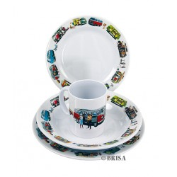Duo de vaisselle Combi VW pour pique-nique à 2
