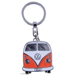 Porte-Clef Combi VW en métal peint orange