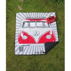 Couverture de pique-nique Combi VW rouge