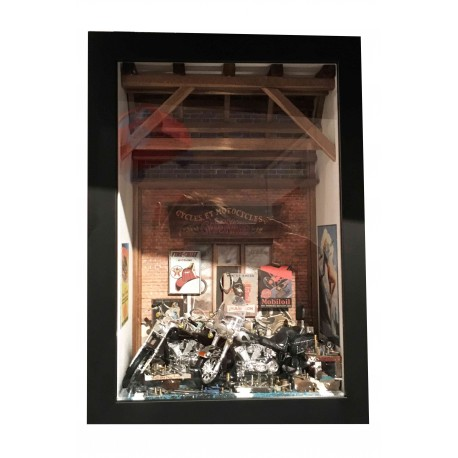 "Tableau vitrine"" L'Atelier Harley Davidson"" format small"
