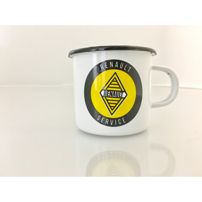 mug renault service en mail blanc sur logo jaune et noir boutique fou du volant. Black Bedroom Furniture Sets. Home Design Ideas