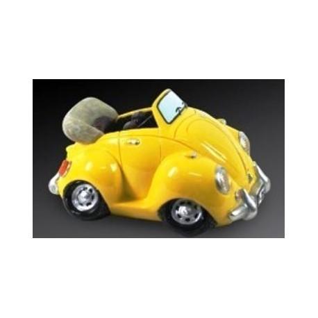 Tirelire Coccinelle VW en résine peinte - 6 coloris au choix