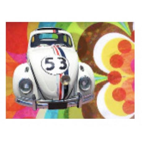 """Impression sur plexiglass """"Coccinelle Volkswagen en Folie"""""""" en 80 cm x 60 cm"""