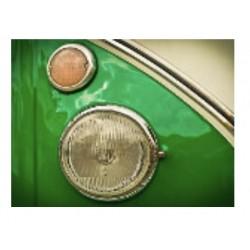 "Impression sur plexiglass ""Van Volkswagen verdoyant"" en 80 cm x 60 cm"