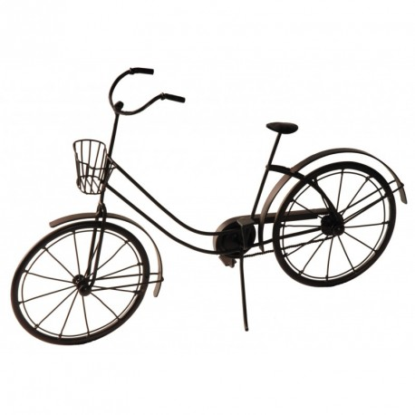 Vélo décoratif en vieux métal couleur cuivre
