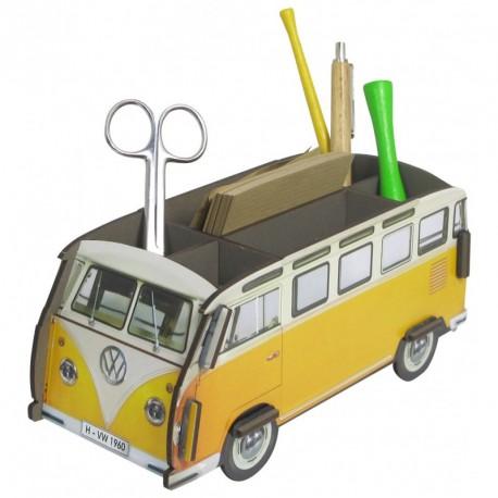 Porte-stylos Combi Volkswagen jaune et blanc