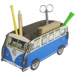 Porte-stylos Combi Volkswagen bleu et blanc