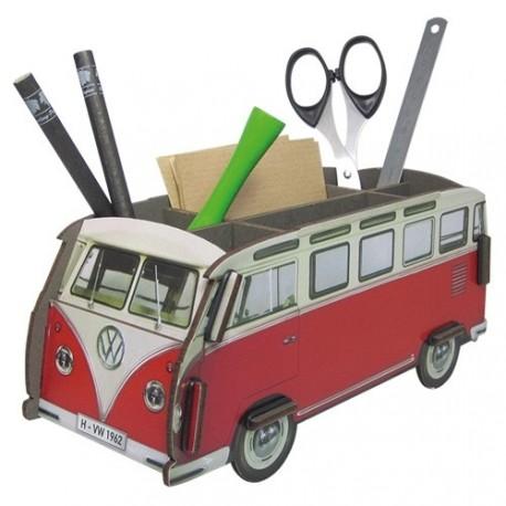 Porte-stylos et objets Combi Volkswagen rouge et blanc
