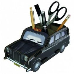 Porte-stylos original et écolo Taxi londonien noir et blanc