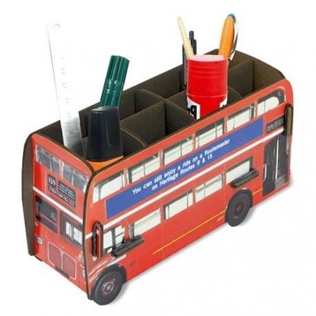 Porte-stylos original et écolo Bus Londonnien