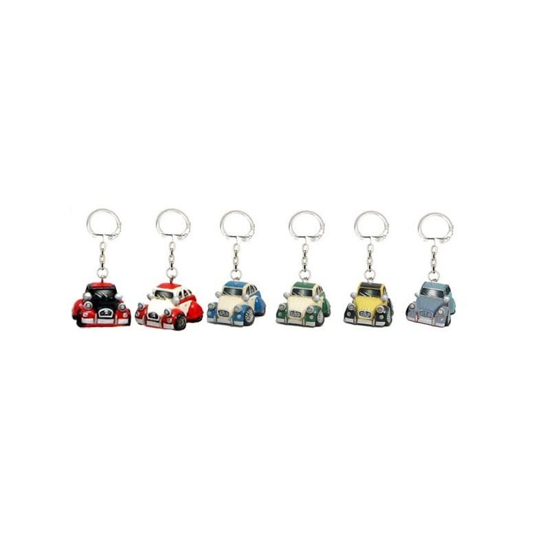 porte-clef 2 cv en r u00e9sine peinte bicolore